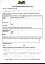 Junior Application Form